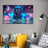Galaxy Lion Animal Modern Framed Tableau Portrait Canvas Print for Room Moulding
