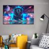 Galaxy Lion Animal Modern Framed Tableau Portrait Canvas Print for Room Moulding