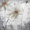 Anemone Hupehensis Abstract Modern Floral Watercolor Framed Scheme Photo Canvas Print