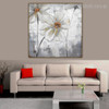 Anemone Hupehensis Abstract Modern Floral Watercolor Framed Scheme Photo Canvas Print for Living Room Wall Onlay