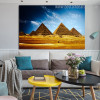 Egyptian Pyramids Landscape Contemporary Framed Smudge Photo Canvas Print for Lounge Room Wall Tracery