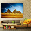 Egyptian Pyramids Landscape Contemporary Framed Smudge Photo Canvas Print for Room Wall Assortment