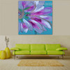 Flower Petal Abstract Watercolor Botanical Framed Vignette Image Canvas Print for Room Wall Decoration
