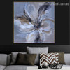 Bloom Petals Abstract Botanical Modern Framed Tableau Photo Canvas Print for Living Room Wall Ornament