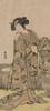 Japanese Dona Vintage Reproduction Ukiyo E Figure Framed Resemblance Photo Canvas Print