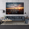 Tower Block Cityscape Modern Framed Painting Photo Canvas Print for Lounge Room Wall Garniture