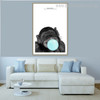 Black Orangutan Animal Modern Framed Portmanteau Picture Canvas Print for Living Room Wall Outfit