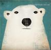 Polar Bear Anime Animal Contemporary Modern Framed Painting Picture Canvas Print