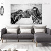 Zebras Animal Modern Framed Painting Picture Canvas Print for Room Wall Decor