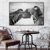 Zebras Animal Modern Framed Painting Picture Canvas Print for Room Wall Getup