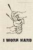 Work Hard Abstract Modern Quote Framed Portmanteau Image Canvas Print