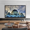 The Blue Mosque Islamic Religious Modern Framed Portraiture Photo Canvas Print for Room Wall Ornament