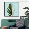 Banana Leaflet Botanical Nordic Framed Vignette Image Canvas Print for Room Wall Drape