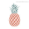 Pineapple Fruit Botanical Modern Framed Artwork Portrait Canvas Print