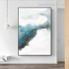 Dispersed Ink Abstract Minimalist Modern Framed Smudge Photo Canvas Print for Room Wall Finery