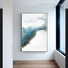 Dispersed Ink Abstract Minimalist Modern Framed Smudge Photo Canvas Print for Room Wall Flourish