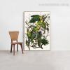 Carolina Parakeet Bird Modern Framed Portmanteau Photo Canvas Print for Room Wall Garnish