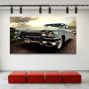 Classic Sports Car Travel Botanical Vintage Framed Vignette Photo Canvas Print for Room Wall Outfit