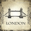Tower Bridge Architecture City Vintage Framed Vignette Image Canvas Print