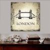 Tower Bridge Architecture City Vintage Framed Vignette Image Canvas Print for Room Wall Decoration