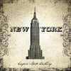 Empire state building Architecture City Vintage Framed Resemblance Photo Canvas Print