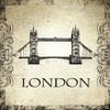 Tower Bridge Architecture City Vintage Framed Painting Portrait Canvas Print