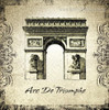 Arc De Triomphe Architecture City Vintage Framed Artwork Picture Canvas Print