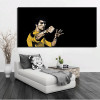 Kung Fu Superstar Bruce Lee Poster Digital Printed Wall Pictures for Living Room