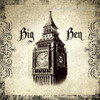 Big Ben Tower Architecture City Vintage Framed Painting Photo Canvas Print