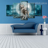 Wolves Animal Nature Modern Framed Painting Photo Canvas Print for Room Wall Decor
