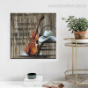 Cello Abstract Music Quote Modern Framed Smudge Portrait Canvas Print for Room Wall Decoration