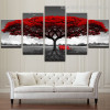 Red Arbor Nature Botanical Contemporary Framed Artwork Picture Canvas Print for Room Wall Flourish