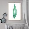 Plant Leaf Abstract Botanical Minimalist Modern Framed Vignette Image Canvas Print for Room Wall Getup