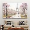 Romantic City Lovers Paris Eiffel Tower Landscape Living Room Wall Art Décor