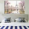 Romantic City Lovers Paris Eiffel Tower Landscape Bedroom  Wall Art Decor