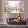 Romantic City Lovers Paris Eiffel Tower Landscape Living Room Decor