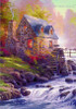 Cobblestone Mill William Thomas Kinkade Reproduction Painting Picture Canvas Print