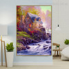 Cobblestone Mill William Thomas Kinkade Reproduction Painting Picture Canvas Print for Room Wall Outfit