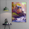 Cobblestone Mill William Thomas Kinkade Reproduction Painting Picture Canvas Print for Room Wall Decor