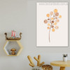 Cherry Fruit Abstract Botanical Minimalism Nordic Framed Painting Portrait Canvas Print for Room Wall Onlay