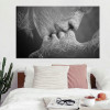 Love Kiss abstract picture for bedroom wall art decor.