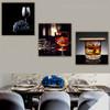 Ale Food & Beverage Still Life Modern Framed Perspective Image Canvas Print for Dining Room Wall Garniture
