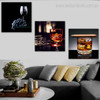 Ale Food & Beverage Still Life Modern Framed Perspective Image Canvas Print for Living Room Wall Adornment