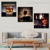Libation Food & Beverage Still Life Modern Framed Painting portrait Canvas Print for Room Wall Decoration