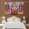 God Ganesh Religious Modern Framed Portmanteau Picture Canvas Print for Room Wall Trimming