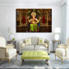 Godhead Ganesh Religious Modern Framed Portmanteau Picture Canvas Print for Lounge Room Wall Molding