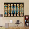 Sheikh Zayed Masjid Islamic Religious Modern Framed Resemblance Portrait Canvas Print for Room Wall Flourish