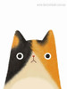 Cute Cat Abstract Animal Contemporary Framed Painting Image Canvas Print