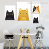 Cute Cats Abstract Animal Contemporary Framed Painting Image Canvas Print for Room Wall Decoration