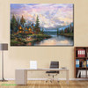 Cathedral Mountain Lodge Landscape Poster Print for Study Room Wall Art Pictures